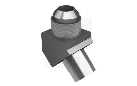 2N-1288 коліно патрубка металеве з різьбою